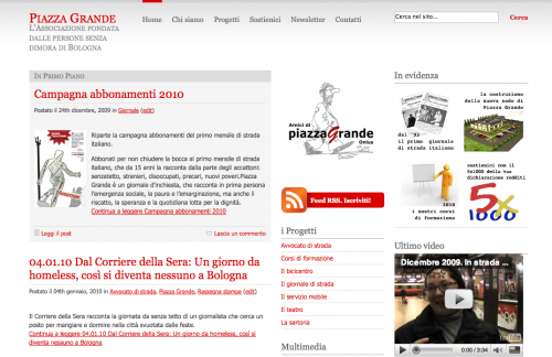 schermata PG web